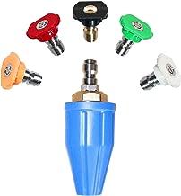 EDOU Rotating Turbo Nozzle Pressure Washer 5000 PSI with 5 Spray Nozzle Tips Kit Multiple Degrees(0、15、25、40 Degrees,Soap)