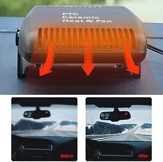 yongqxxkj Ventola Riscaldatore per Auto 2 in 1 12v Accessori per Auto 150w Riscaldamento Rapido Riscaldamento Ventola di Raffreddamento Parabrezza Demulsore Sbrinatore