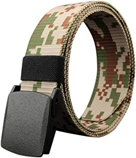 Yiwa Men's Outdoor Military Style Training Alloy Buckle Canvas Camouflage Wide Belt