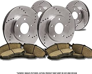SHIPS FROM USA!!-Tax Incl. 4 Semi-Met Pads 2 OEM Replacement Great-Life Premium Disc Brake Rotors 5lug Front Kit -Combo Brake Kit-