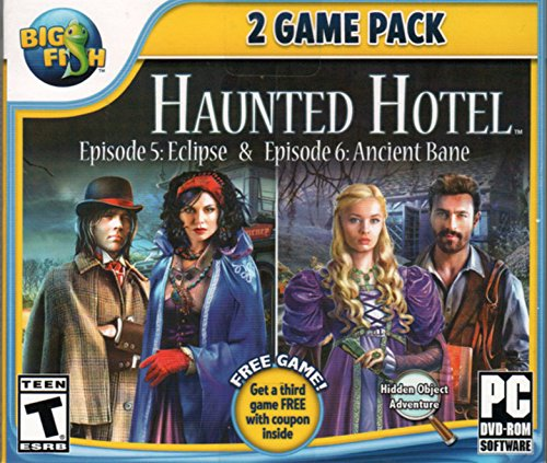 Haunted Hotel Episode 1: ECLIPSE + Episode 2: ANCIENT BANE Hidden Object PC Game DVD-ROM