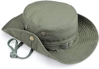 Vadeytfl Tactics Cap Camouflage Pattern Fisherman Cap Outdoor Wide Side Sun Hat Travel Cap Fishing Cap Rounded Hat Bucket Cap Unisex - Foldable Adjustable Chin Strap (Color : E)