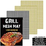 Grill mat Set of 3 - Non Stick BBQ Grill mesh mats,Reusable,Easy to Clean,Suitable for Charcoal...