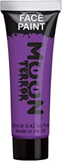 Moon Terror - Halloween Face Paint for The Face & Body - 0.40fl oz - Create Spooky face Paint Designs! Perfect for Vampire, Ghost, Skeleton, Witch, Pumpkin, Monster etc - Poison Purple