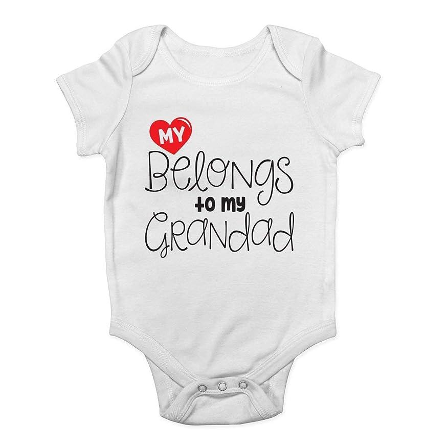 Freedom45457 My Heart Belongs to My Grandad Funny Baby Onesies Unisex Vest Bodysuit