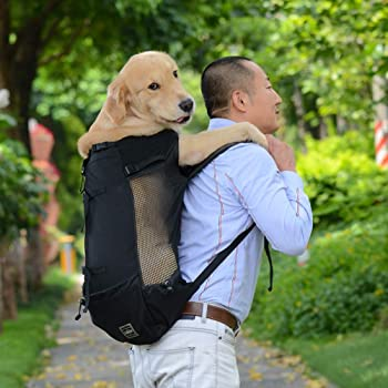 Aprobada por Veterinarios K9 Sport Sack Trainer Mochila para Transportar Perros y Mascotas peque/ños y medianos Portamascota orientada hacia Delante M, Eclipse