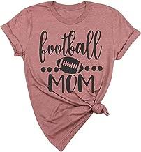 EGELEXY Womens Football T-Shirt Summer Football Mom Short-Sleeved Cotton Tee Shirt Top