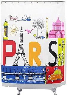 GWFVA 180 * 200 cm Creative Paris Motif Rideaux De Douche Imperméable Et Moisissure Protection De l'environnement À Séchag...