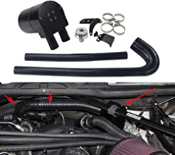 PQYRACING PQY Black Aluminum Alloy Reservior Oil Catch Can Tank with Silicone Radiator Hose Compatible for BMW N20