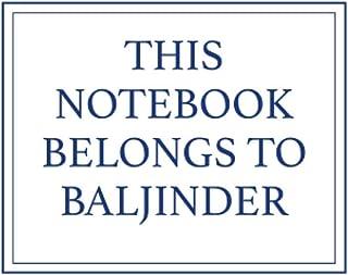 This Notebook Belongs to Baljinder
