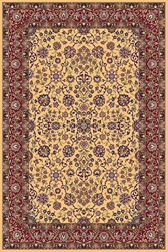 Erdenet Carpet Tappeto Design Orientale 200x300 cm, 100% Lana, Oro (200_x_300)