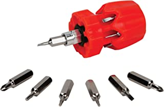 Performance Tool W476 7pc Stubby Precision Screwdriver with Phillips, Slotted and Star bits