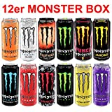 12 verschiedene Monster Energy Drinks