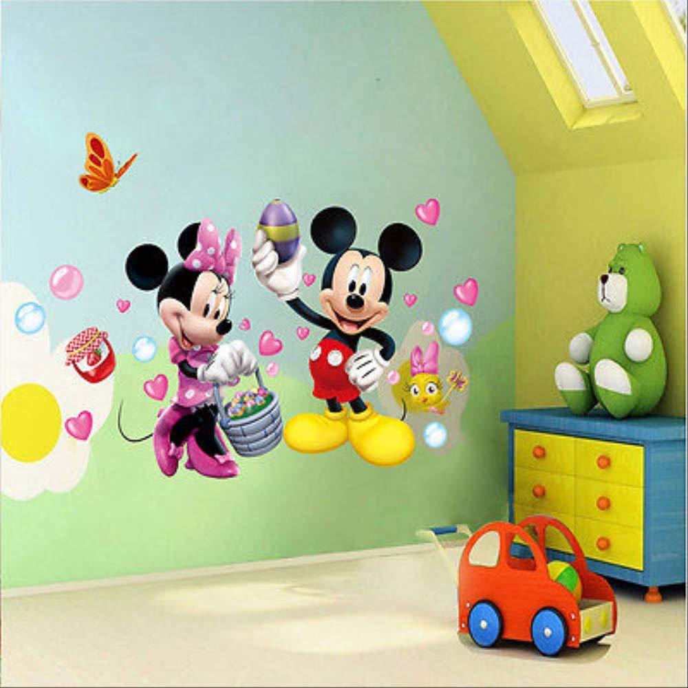 Vinilos De Pared Mickey Mouse Poster Cartoon Decal Inicio para guarder/ía ni/ños dormitorio sala de estar