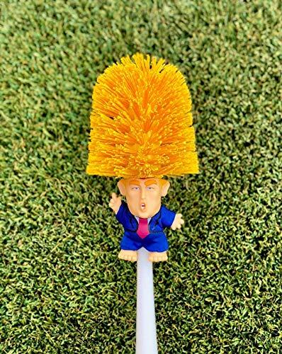 Original Donald Trump Klobürste mit komplettem Körper sowie mit Halterung - Commander in Crap, Spaßartikel, Gadget