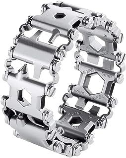 Stainless Steel Bracelet, Multifunctional 29 in 1 Outdoor Bracelet, Wearable Emergency Bracelet, Screwdriver Tool Bracelet, Travel Camping Emergency Equipment