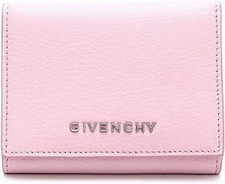 [ジバンシイ] GIVENCHY 3つ折 財布 型押しレザー ピンク 桃 シルバー金具 BC06221012 [中古]