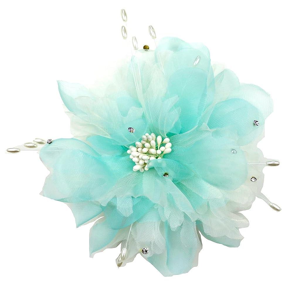 折り目ランチばかコサージュ 入学式 コサージュ フォーマル 2way ヘッドドレス 卒業式 麹の花 コサージュ 結婚式 髪飾り fham19121bewe
