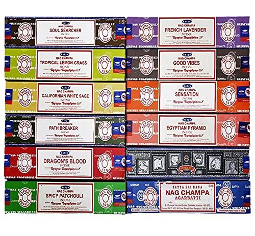 Satya - Confezione da 12 confezioni assortite, 15 g x 12 confezioni