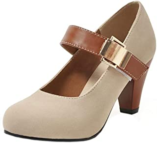 AbbyAnne Women Classic Spring Shoes Ankle Strap