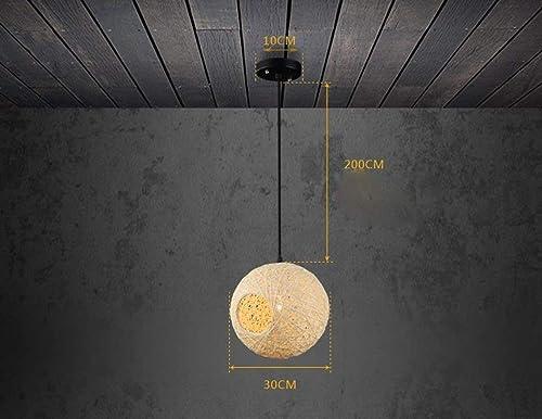 MJY Lustre En Fer Rétro Loft Restaurant Bar Moderne Simple Créative Allée Balcon Escalier Simple Tête E27 mode.Z Décoration de La Maison,40cm   4