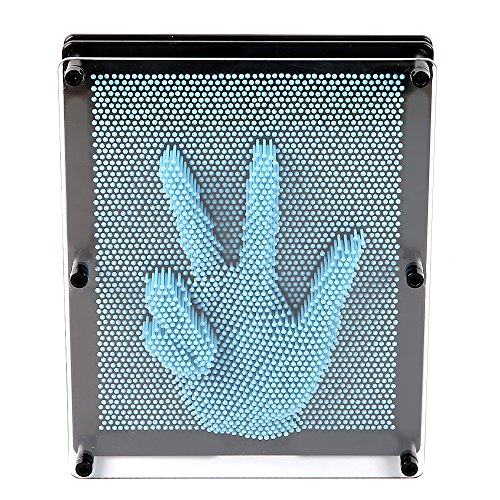 E-FirstFeeling 3D Pin Art Sculpture Extra Large 10' X 8' Pin Impression Hand Mold Board Toy - Light Blue