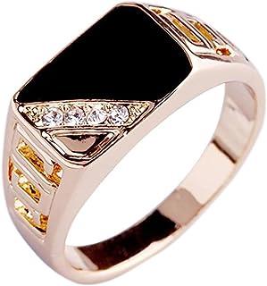 MDTBB خواتم الرجال مربعة كلاسيكية للرجال خاتم المفصل المفصل المفصل للرجال أنيقة خواتم واسعة جدا، 18.1 مم