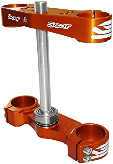 Scar Racing Triple Clamp - 16mm offset - Orange S5412OR