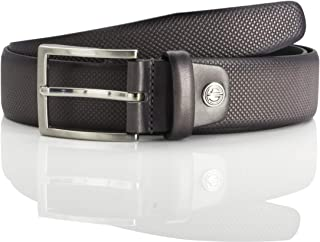 LINDENMANN LM leather belt for men leather belt made of full grain cow leather, 35 mm wide and 3,8 mm strong, adjustable, ...