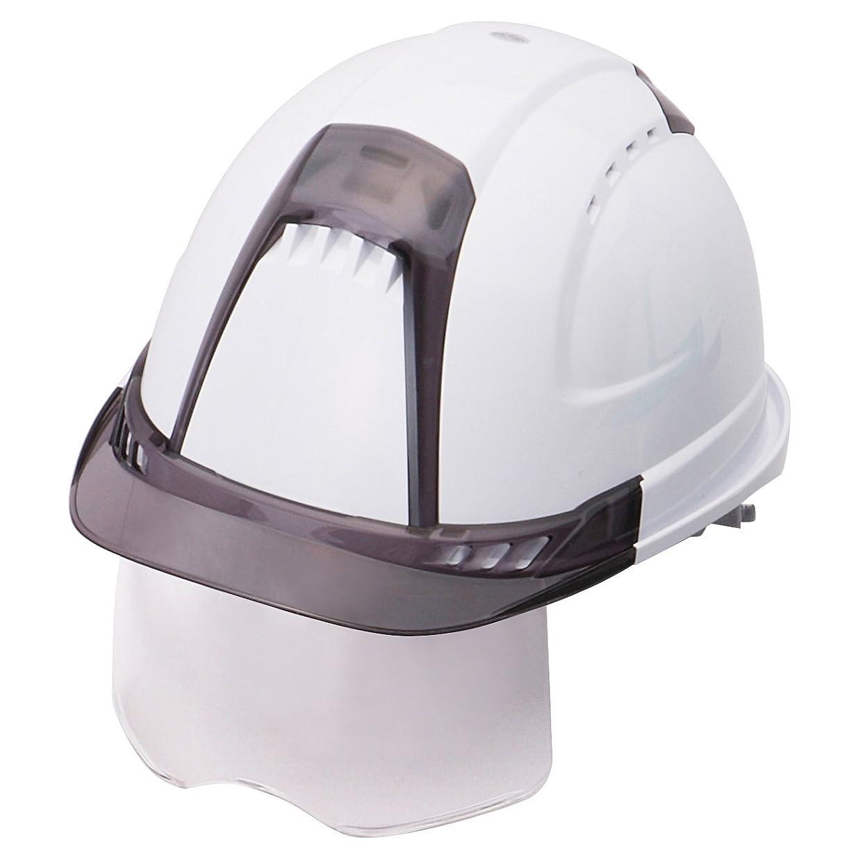 食器棚宿泊解明するTOYO シールド付きヘルメット ヴェンティープラス スチロール入り 白/スモーク/クリア No.391F-S-C