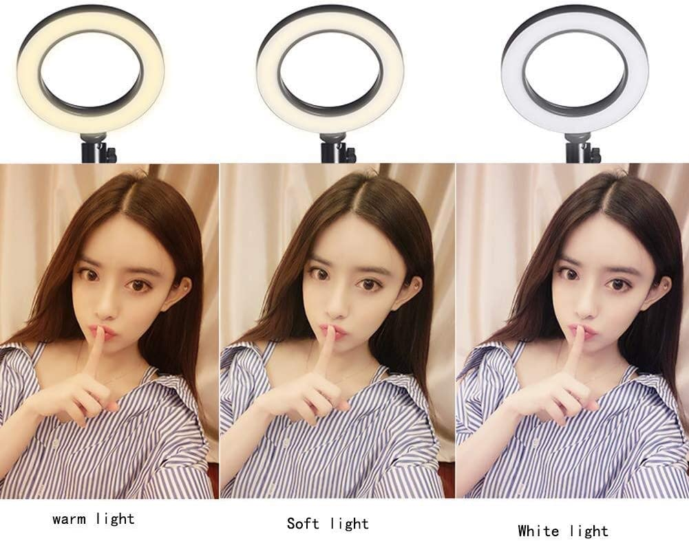Ring Light Mobile Phone Live Bracket Tripod Floor Shooting Desktop Self-Timer Makeup Multi-Function Fill Light Outdoor Beauty Skin Care Thin Photography Dimmable Face Soft Light Led Self-Timer 0110