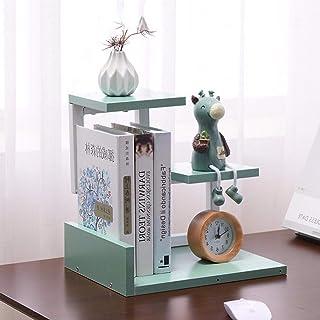 AISHANG Mini étagères de Bureau bibliothèque en Bois Armoire créative étagère Organisateur de Table Bricolage bibliothèque...