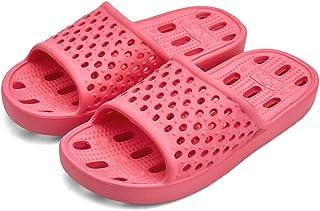 Shower Shoes Men Women Non Slip Bathroom House Slippers College Dorm Room Essentials for Girls Kids Shower Sandals Swimming Water Shoe (Red,EU40-41)