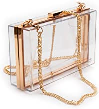 Women Acrylic Clear Purse Cute Transparent Crossbody Bag Lucite See Through Handbags Evening Clutch Events