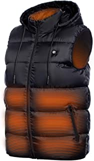 Heated Vest - Lightweight USB Rechargeable Heated Vest for Men with Battery Included