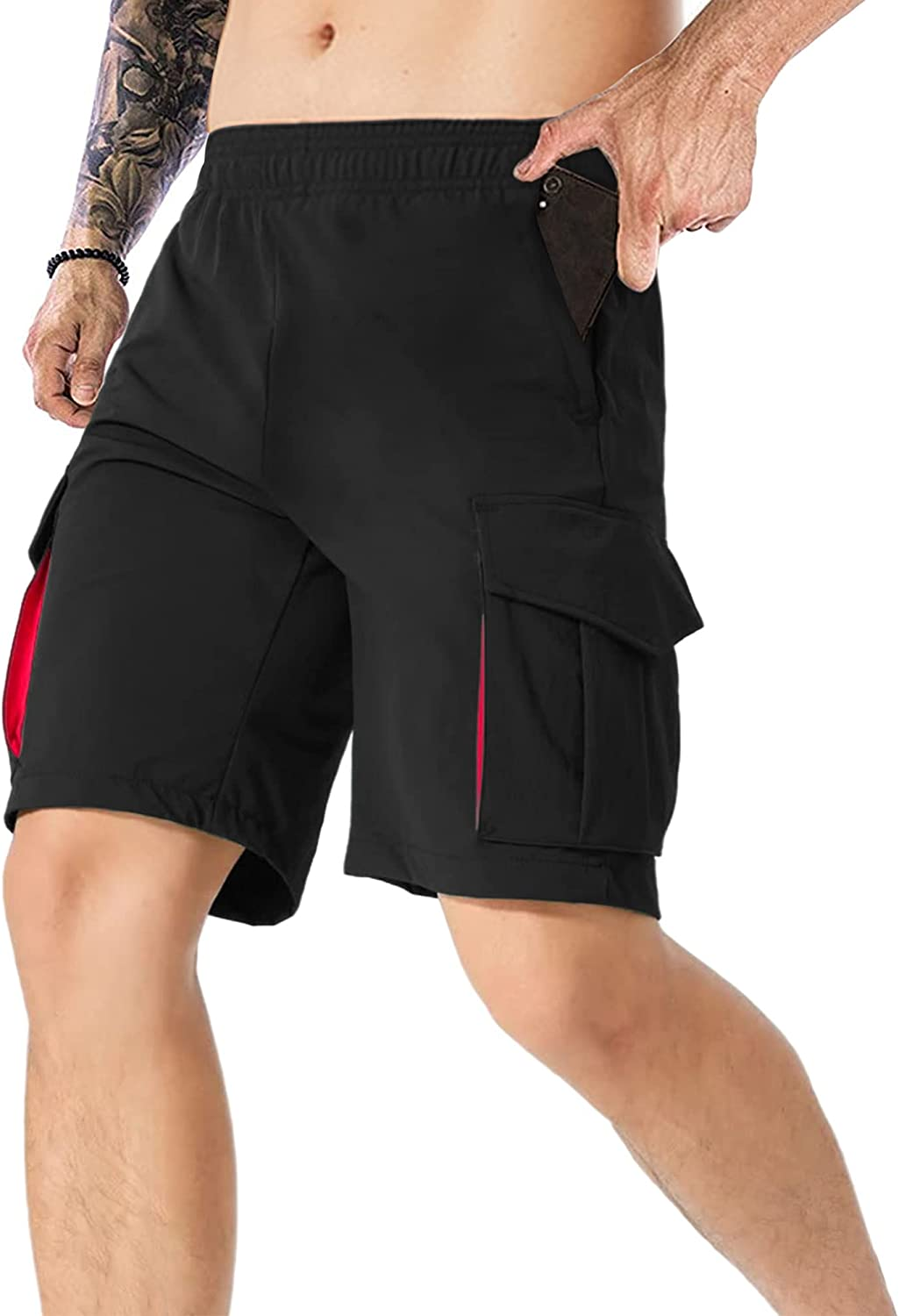 Men's Cargo Short Relaxed Fit Tampa Mall Causal Loose Tactical Long Beach Mall Elast Hiking