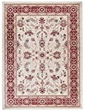 Carpeto Rugs Tapis Salon crème Rouge 160 x 220 cm Oriental/Ayla Collection
