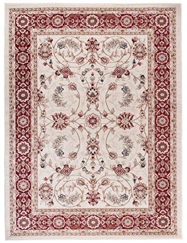 Carpeto Orientteppich Teppich Creme 300 x 400 cm Ornamente Klassisch Muster - Wohnzimmer Schlafzimmer Esszimmer
