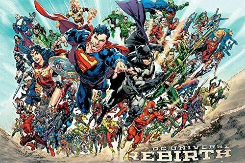 Diuangfoong DC UNIVERSE 2595 - Póster de Batman Superman Wonder Woman