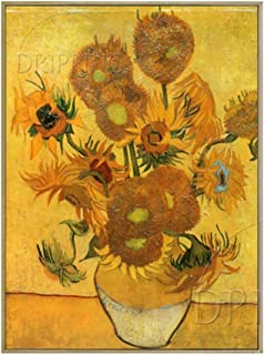 YDDFSGGFDSG Artista Profesional Reproducir la Pintura al óleo de la Flor de Van Gogh sobre Lienzo Bodegón con Quince Flores, Pintura al óleo,120x140CM