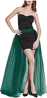 L'VOW Women' 4 Layers Overlay Long Tulle Dress Floor Length Tutu Skirt for Party Wedding