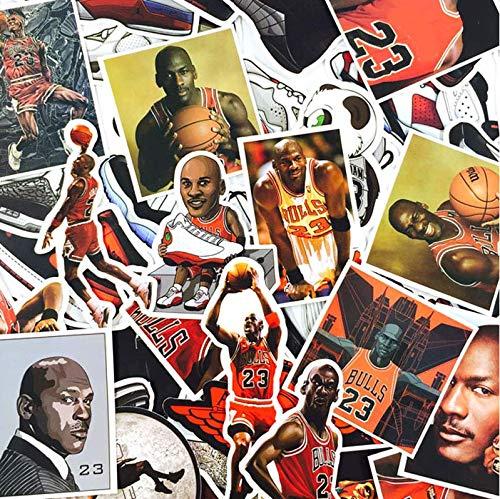 ZJJHX Wiederholen Sie Nicht mit den Sternabziehbildern Laptop Fahrrad Gepäck Flut Marke Basketballschuhe Jordan Graffiti Jordan wasserdichte Aufkleber 52