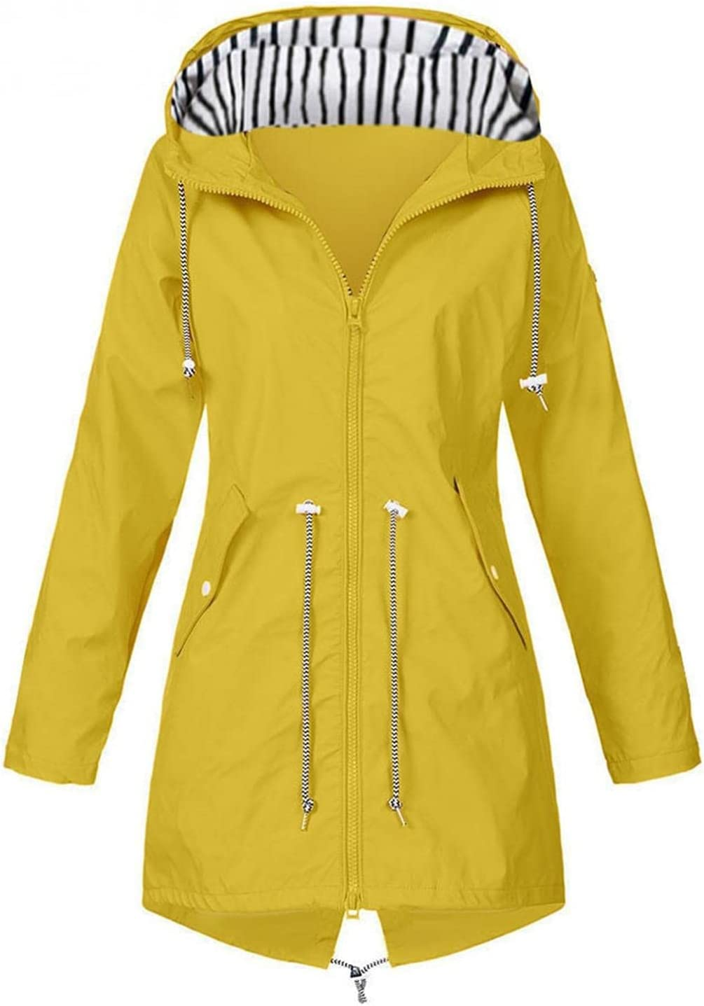 Tucson Mall Obersheen Women Casual Max 62% OFF Jackets Hooded P Solid Lightweight Jacket