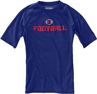Under Armour Boys 'HeatGear? Football ? Sleeve Shirt Tops de Under Armour YXL Royal