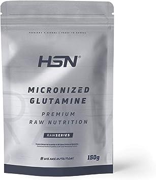 Glutamina Micronizada de HSN   Kyowa como Materia Prima   100% Pura   Suplemento para favorecer el Crecimiento y Recuperación Muscular   Vegano, Sin ...