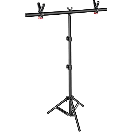 Photography T-Shaped Background Backdrop Stands Support System for Photo Studio PVC backdrops Multiple Sizes mm : 202x184cm Color : Black, Size Carry Bag
