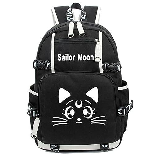 4e01c604a84a2 Bromeo Sailor Moon Anime Cartoon Backpack School Bookbag Luminous Rucksack