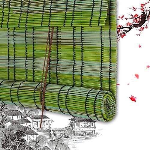Persiana Enrollable De Bambú Persiana Enrollable De Bambú Persiana Enrollable De Madera - Persiana Enrollable Romana De Plástico Filtrado De Luz De Plástico PE Protección Solar Fácil Instalación