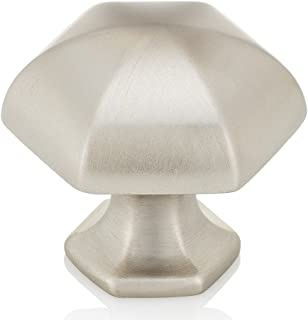 Southern Hills Brushed Nickel Cabinet Knobs -Pack of 5 - Drawer Pulls - Satin Nickel Kitchen Hardware SHKM023-SN-5