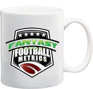 Manglam Mart Fantasy Football Metrics White Tea Coffee Mug Ceramic Coffee Tea Cup